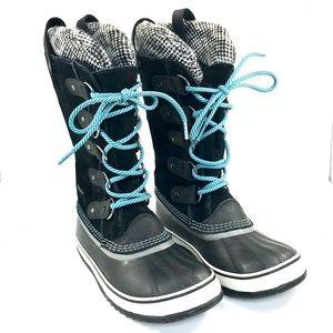 Sorel: black suede snow boots (Joan of Arctic) (7)